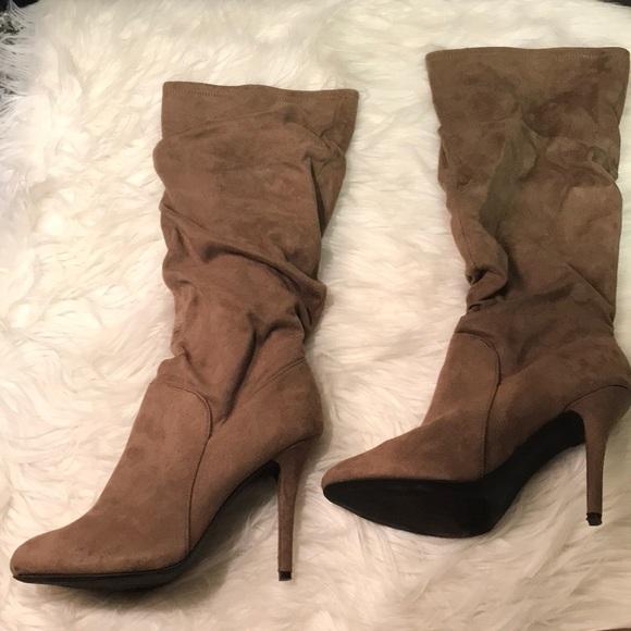 Jennifer Lopez Shoes Kohls Audrey Boots Taupe Suede Poshmark